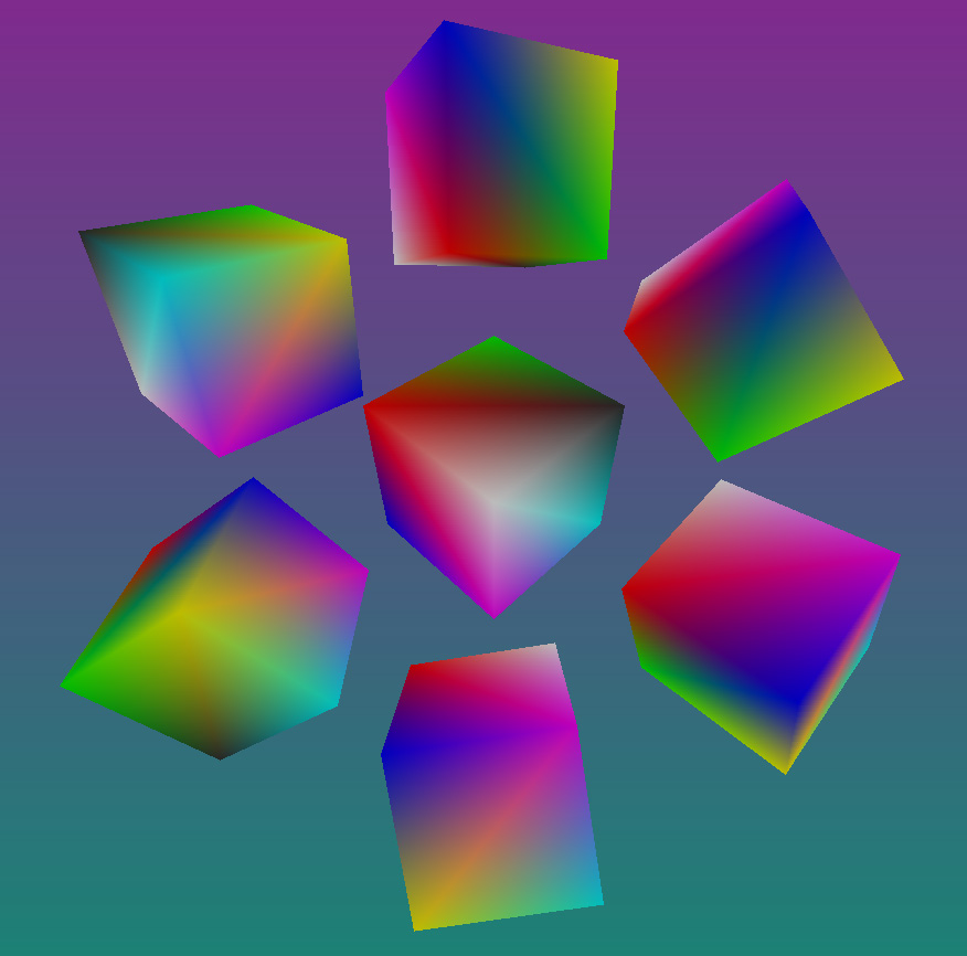 Vertex color bilinear interpolation