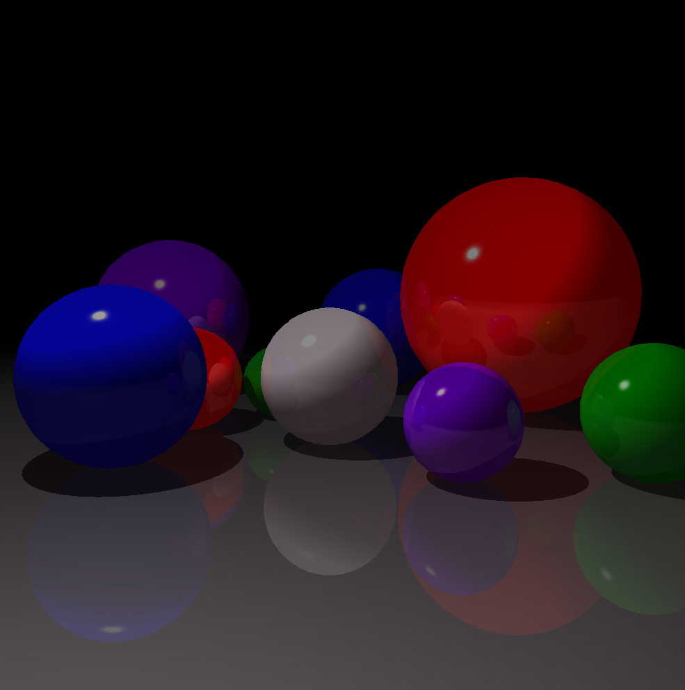 Ray traced sphere reflections